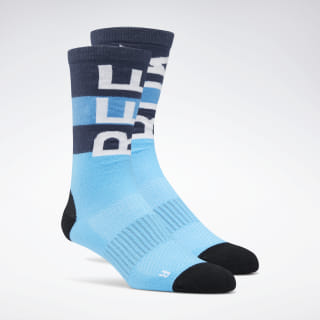 Training Crew Socks Bright Cyan EC5635
