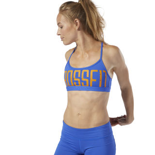 Reebok CrossFit® Graphic Skinny Bra Crushed Cobalt DQ0052