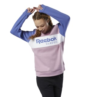 Sweat à col rond Classic Infused Lilac DX2344