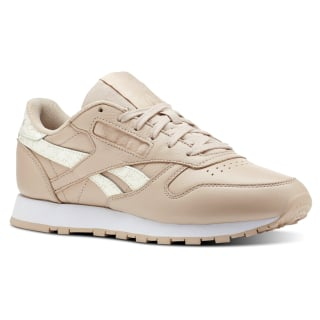 Classic Leather Sidestripes-Bare Beige / White CN4020