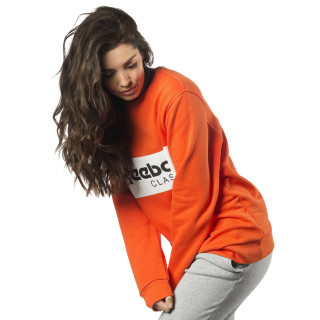 Classic Crew Neck Sweatshirt Energy Orange DX2346