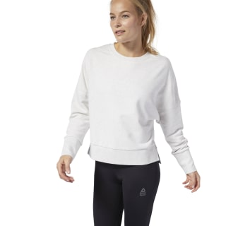 Blusa F Crossfit Terry Crew white melange DQ0040
