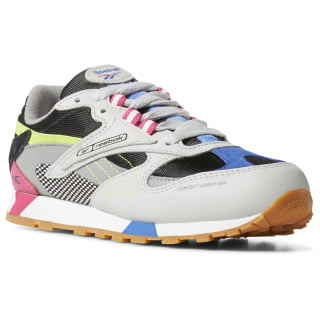 Classic Leather ATI 90s Shoes - Preschool Grey / Blk / Pink / Lime DV5519