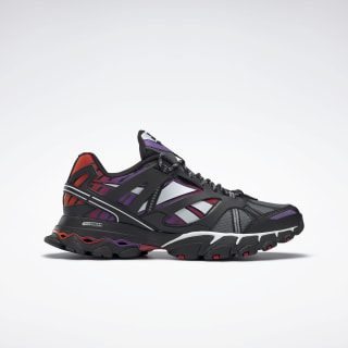 Reebok DMX Trail Shadow Shoes Black / Cold Grey 5 / Scarlet FV2842