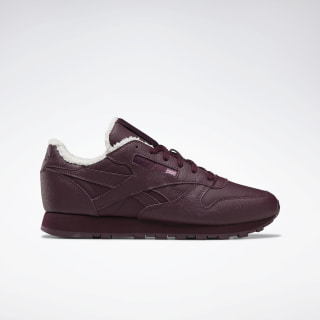 Кроссовки Reebok Classic Leather Maroon / Chalk / None FU7776