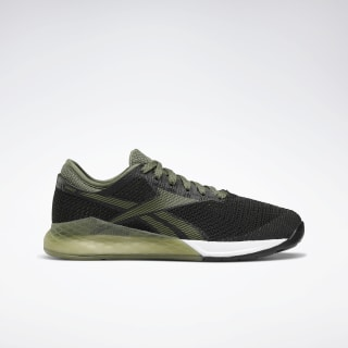Reebok Nano 9 Women's Training Shoes Black / Canopy Green / White EG7952