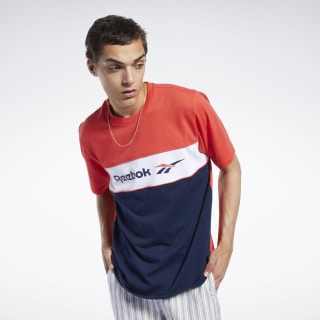 Classics Linear T-Shirt Radiant Red / Collegiate Navy FJ3346