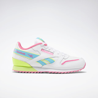 Classic Leather Ripple ATI 90s White / Solar Yellow / Solar Pink EG5246