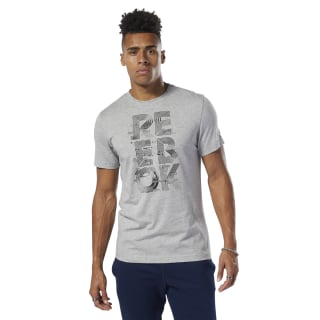 Camiseta de cuello redondo Futurism Reebok Medium Grey Heather DU4695