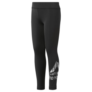 Girls Reebok Adventure Basic Leggings Black DH4287