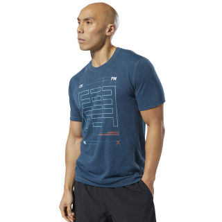 Спортивная футболка Reebok CrossFit® Move blue hills mel DU5117