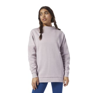 Training Essentials Marble Oversized Crew Lavender Luck D95553