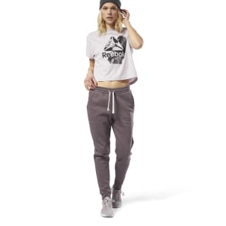 Training Essentials Gemarmerde Broek Almost Grey CY3604