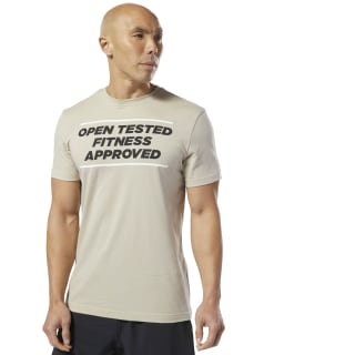 Reebok CrossFit® Open Tested Tee Light Sand DY0484