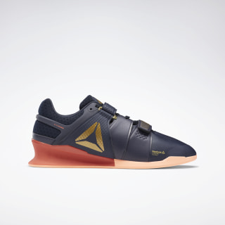 Reebok Legacy Lifter Shoes Heritage Navy / Rosette / Sunglow EG9094