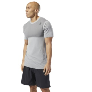 Reebok CrossFit® MyoKnit Tee Medium Grey Heather / Ash Grey DP4571