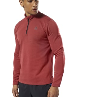 Double Knit Quarter Zip Rebel Red FL7005