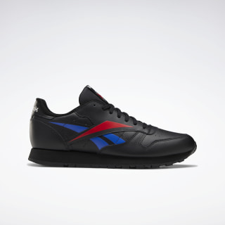 Classic Leather Vector Shoes Black / Scarlet / Collegiate Royal EG2989