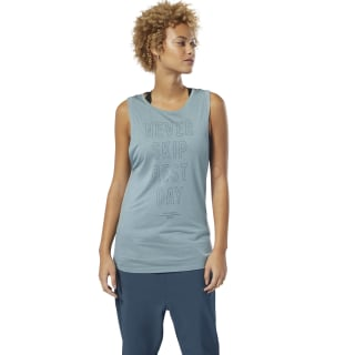 Training Supply Graphic Muscle Tank Top Teal Fog DU4079