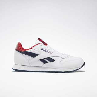 Classic Leather Shoes White / Collegiate Navy / Red DV9549