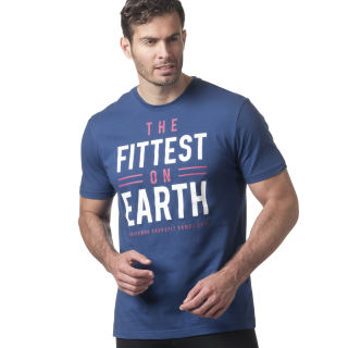 Reebok CrossFit 'Fittest on Earth' Tee Bunker Blue DN2391