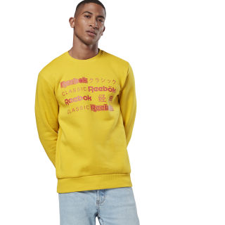 Classics International Crew Sweatshirt Urban Yellow EA3598