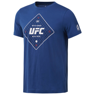 UFC Text Tee Bunker Blue D95024