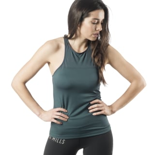 Camiseta sin mangas LES MILLS® High-Support Blue Hills EB4115