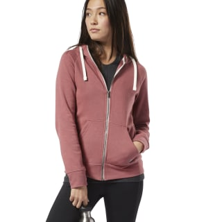 Sweat à capuche zip intégral Training Essentials Rose Dust EC2302