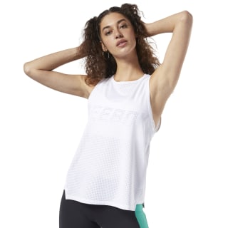 Perforated Performance Tank Top White EI9014