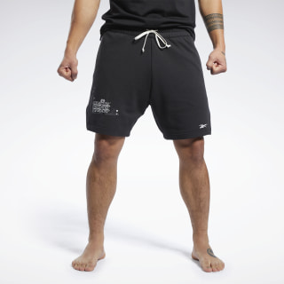 Combat French Terry Boxing Shorts Black FJ5193