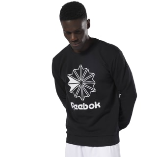 Classics French Terry Big Iconic Crewneck Black / White DT8132
