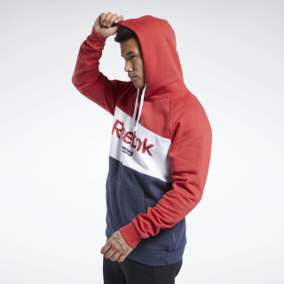 Training Essentials Linear Logo Hoodie Rebel Red FR8128