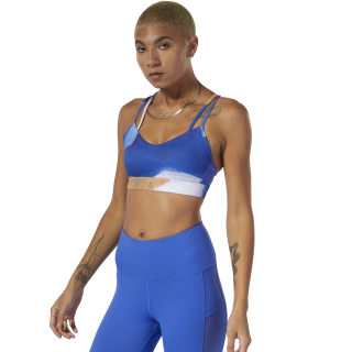 Yoga Hero Strappy Padded Bra Crushed Cobalt DP6176