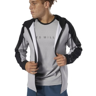 Sweat à capuche à zip LES MILLS® Mgh Solid Grey DV2710