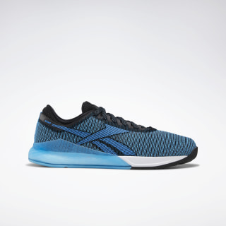 Reebok Nano 9 Men's Training Shoes Black / Bright Cyan / White DV6352