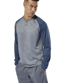 Performance Henley Mgh Solid Grey DT8789
