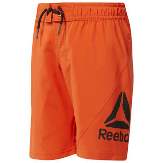 Boys Workout Ready Boardshorts Orange/Bright Lava CG0272