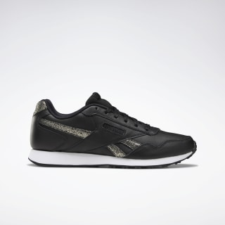 Reebok Royal Glide LX Shoes Black / Gold Met / White DV6834