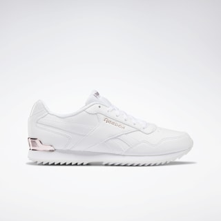 Reebok Royal Glide Ripple Clip Shoes White / Rose Gold / Pearlized DV6703