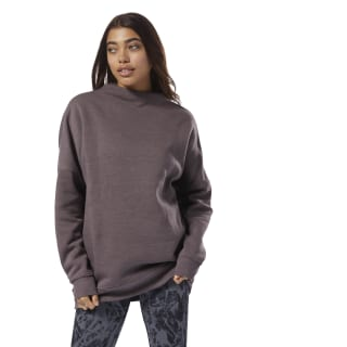 Training Essentials Marble Oversized Crew Almost Grey D95542
