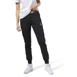 Pantalon de survêtement molletonné Reebok Classics Black / White DH1380