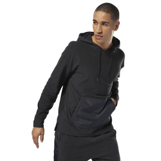 Sweat à capuche Training Essentials en micro-polaire Black CY4854