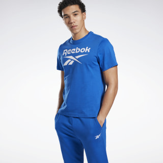 T-shirt imprimé Series Reebok Stacked Humble Blue FP9144