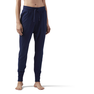 Jogger High Waisted Cotton Collegiate Navy CE2289