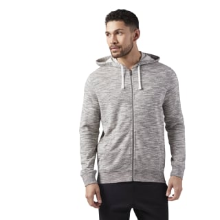 Marble Melange Full-Zip Hoodie Medium Grey Heather CE3916
