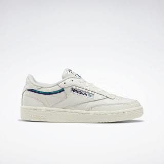 Club C 85 Shoes Chalk / Mystic Orchid / Seaport Teal EF3487