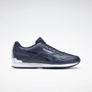Reebok Royal Glide Ripple Shoes Collegiate Navy / Collegiate Navy / Frostbite Met EF7624