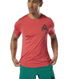 Workout Ready ACTIVCHILL Graphic Tee Rebel Red EC0883