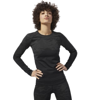 Camiseta de manga larga Thermowarm Seamless Black CY2337